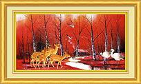 唯美树林装饰画