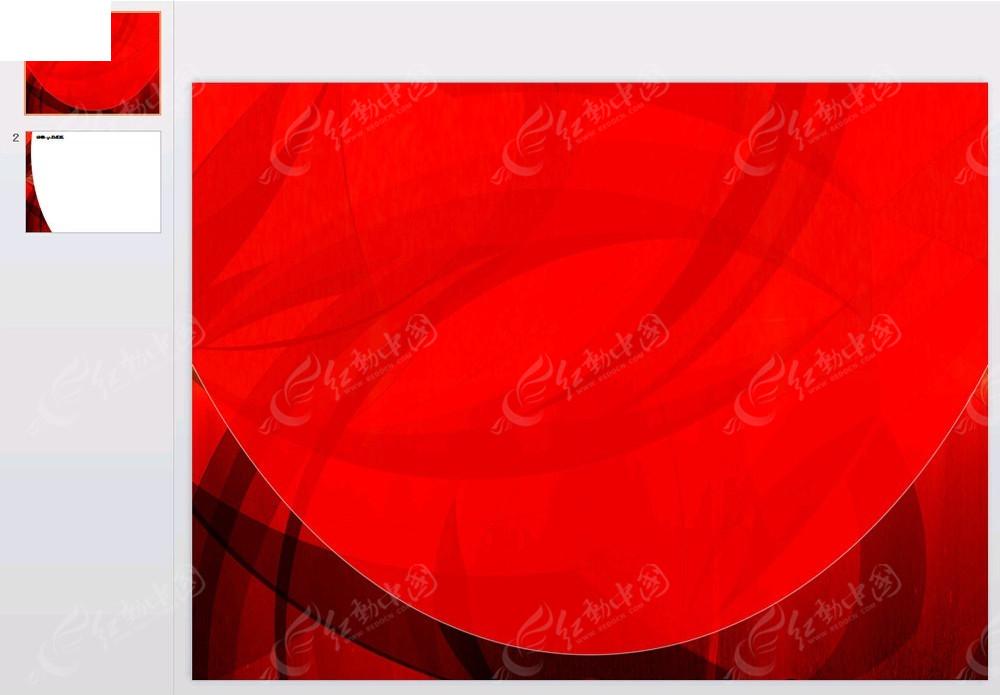 鲜红色背景ppt免费下载_其他ppt素材图片