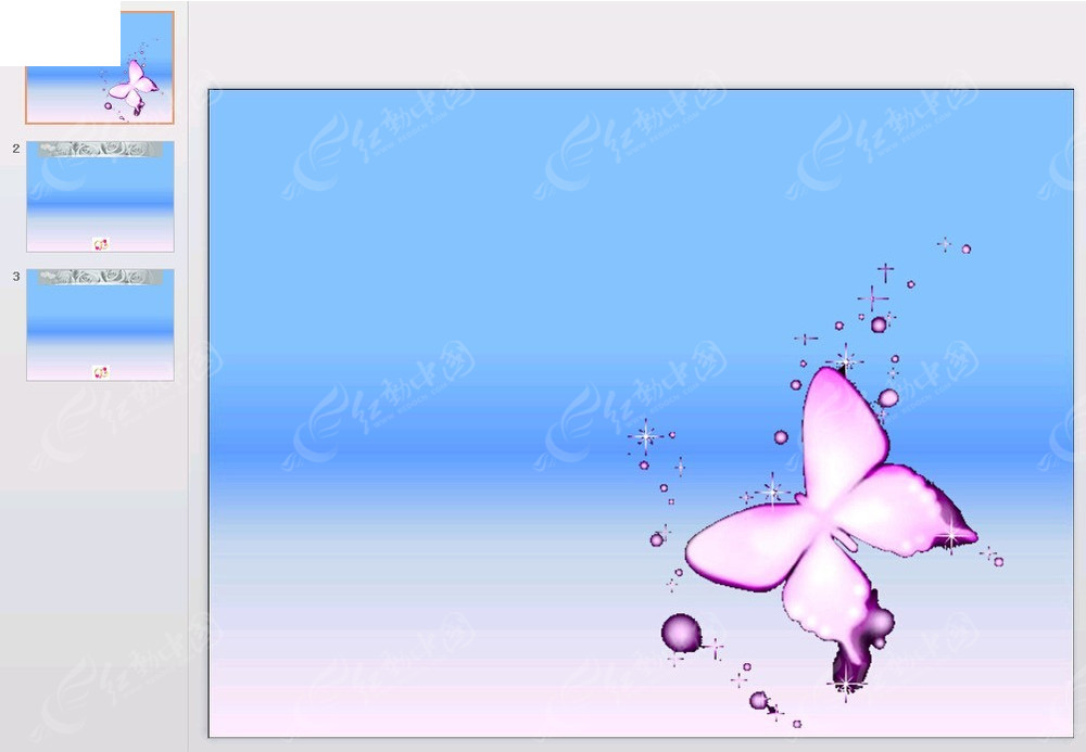 紫色蝴蝶背景ppt免费下载_其他ppt素材图片