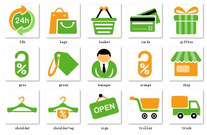 购物车绿色图标