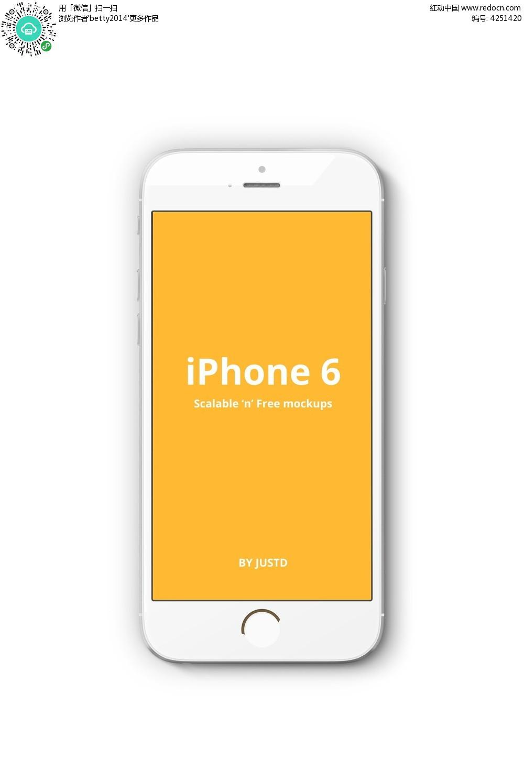 iphone6苹果白色手机图片