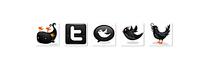 小鸟黑色图标