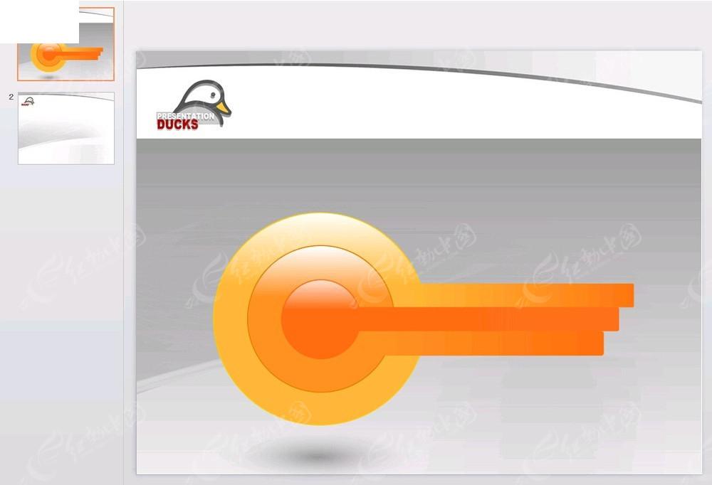 ppt配图钥匙_手拿钥匙开启希望PPT模板商务模板51PPT模