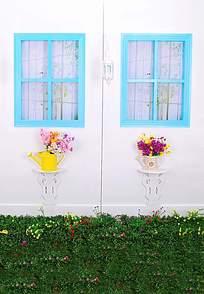花墙上的窗户