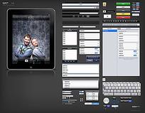 ipad平板电脑UI设计元素PSD
