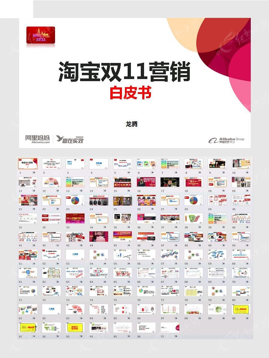 淘宝双十一营销ppt模板图片