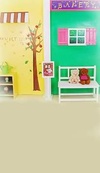 多彩的儿童房墙壁