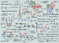 彩色方程式矢量素材