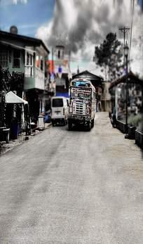 街景货车特写图片