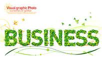 业务英文艺术字体