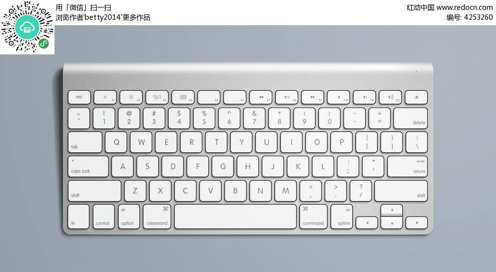 银色立体苹果键盘图片