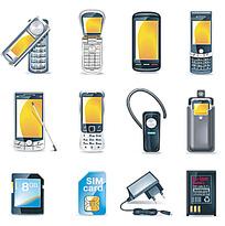 12个手机相关图标