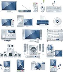 19款银灰色家用数码图标
