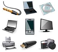 9个黑色系电脑与数码相关图标