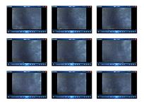 白格黑蓝底白色气体演示视频素材