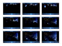 白格黑蓝底黑色烟雾演示视频素材