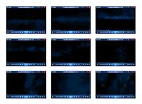 白格黑蓝底烟雾演示视频素材