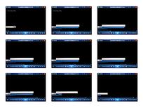 白蓝长条演示视频素材