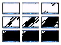 黑色结合演示视频素材