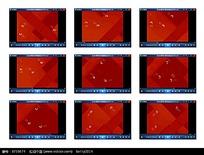 红色底演示视频素材