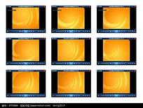 橘黄底纹演示视频素材
