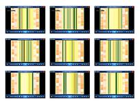 黄绿条纹演示视频素材