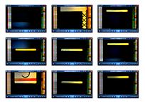 黄色长条演示视频素材