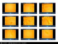 黄色底演示视频素材