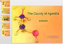 化学模型背景ppt
