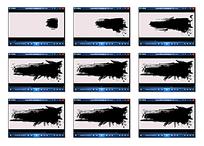 绘画黑色演示视频素材