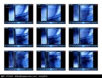 蓝白底纹演示视频素材
