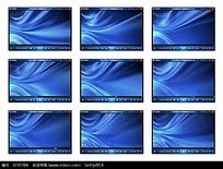 蓝色背景演示视频素材