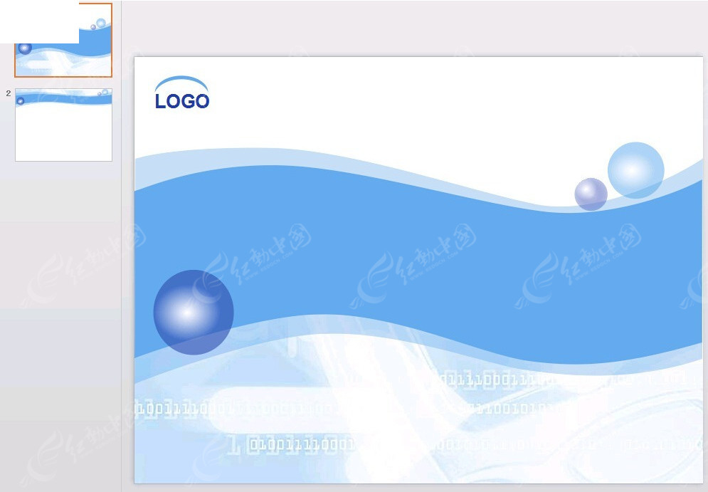 蓝色动感线条背景幻灯片ppt素材免费下载_红动网图片