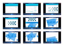 蓝色纸张演示视频素材