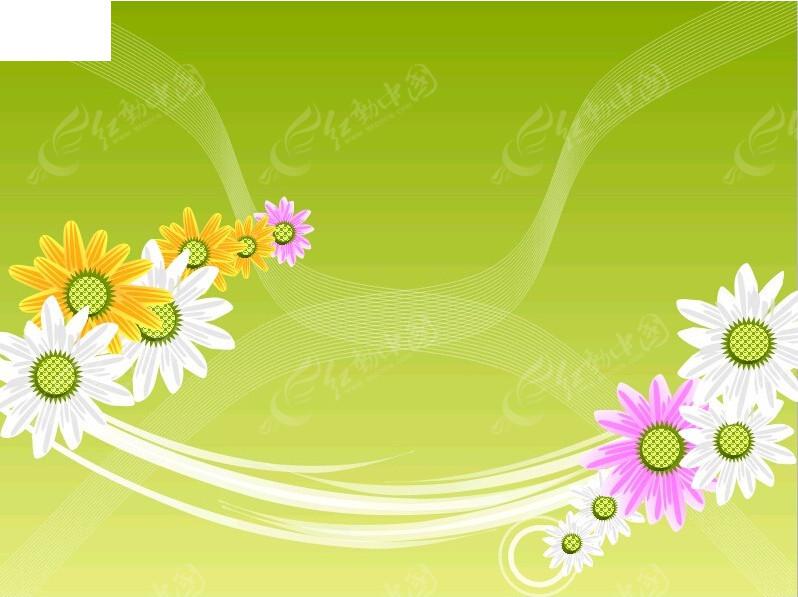 手绘花朵封面ppt模板