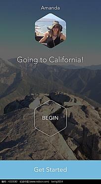 手机APP旅行登山界面