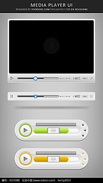 手机视频播放器UI设计图标