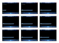 运动蓝色长条演示视频素材