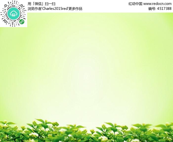 植物绿叶背景ppt图片