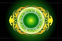 绿黄元素中秋slsc
