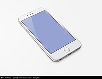苹果手机模型简约蓝屏界面设计