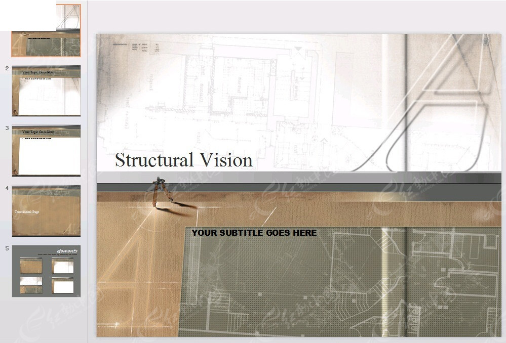 企业图纸封面线条ppt_背景商务4.8米挑高loft装修图纸图片