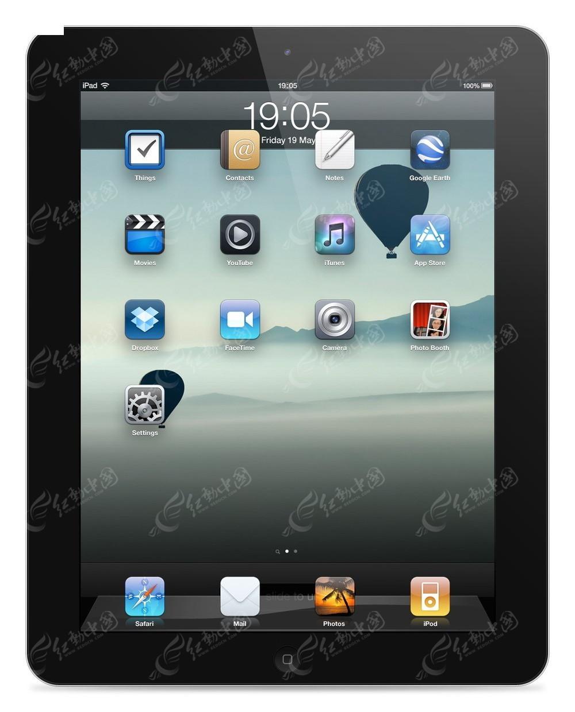 黑色苹果平板电脑图片