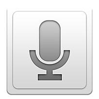 话筒图标手机app界面