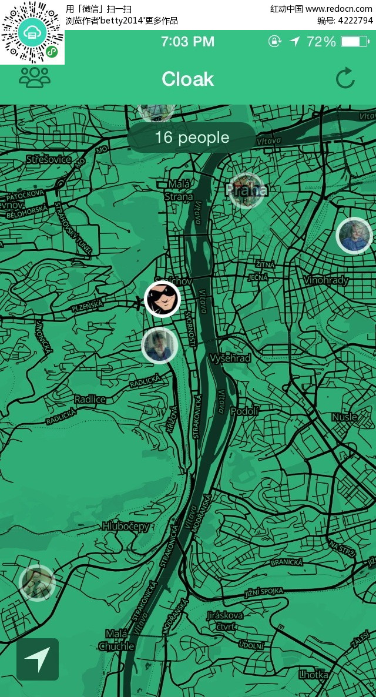 地图导航手机app界面png素材免费下载(编号4222794)