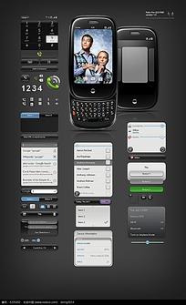 滑盖手机按键界面设计