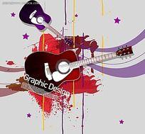 吉他插画海报