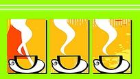 咖啡装饰画矢量素材