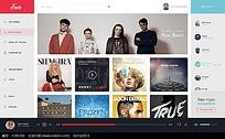 网页视频界面设计模板