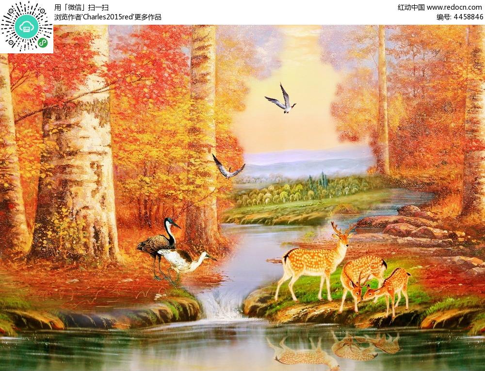 唯美风景图油画